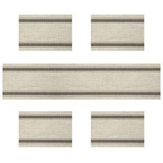 Placemats for kitchen table U'artlines Vinyl Insulation Elegance Simple Placemat Washable Table Mats Set of 4 with a compatible table runner Coffee Stripe