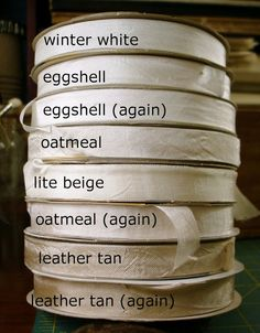 ❥ The Feathered Nest~ My very favorite shades of seam binding...