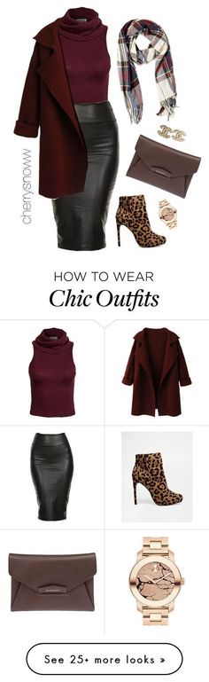 """Classy sassy chic fall outfit"" by cherrysnoww on Polyvore featuring Glamorous, Givenchy, Forever 21, ASOS, Movado and Chanel"