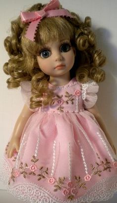 "Pink Lace Dress 10"" Ann Estelle Patsy Linda McCall Samihart"