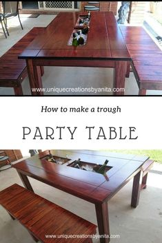 How to make a Trough Party Table – Unique Creations By Anita