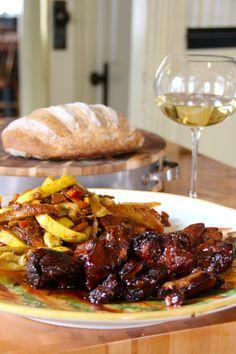 Rôti-de-Cochon-à-lorange. Marinated Pork  with an orange zest infused maple syrup