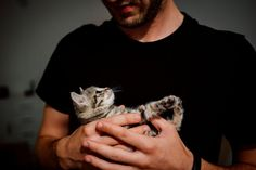 Keep cats out of your dating profile, ridiculous study suggests Grey Tabby Kittens, Cats And Kittens, Men With Cats, Animal Species, Guy Pictures, Loneliness, Maine Coon, Cool Cats, Pet Care