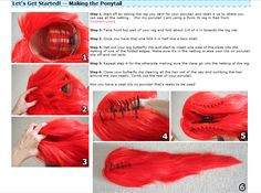 How to make a ponytail without destroying a wig. Interesting idea. I feel like…