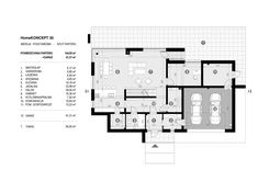 DOM.PL™ - Projekt domu CPT HomeKONCEPT-30 CE - DOM CP1-36 - gotowy koszt budowy Modern House Facades, Modern Architecture House, Modern House Plans, Architecture Design, Villa Plan, House Construction Plan, Duplex Design, 2 Storey House, Beautiful House Plans