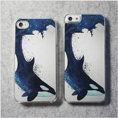iPhone 4/4s case iPhone 5 case, protection cover, mobile phone shell, Original design-whale via Etsy