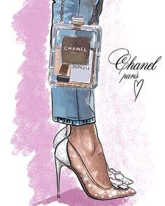 Ideas For Fashion Art Illustration Chanel Drawings - wear me. - Ideas For Fashion Art Illustration Chanel Drawings - Fashion Illustration Chanel, Fashion Illustrations, Trendy Fashion, Girl Fashion, Chanel Fashion, Fashion Ideas, Mode Poster, Chanel Art, Coco Chanel