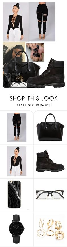 """Need A Girl Collection"" by trill-boss ❤ liked on Polyvore featuring Givenchy, Timberland, Victoria Beckham, CLUSE and BERRICLE"