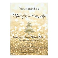gold glittery new years eve party invitation newyearseve happynewyear festivities newyear