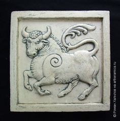 телец 4664 Wax Carving, Stone Carving, Tile Art, Mosaic Art, Clay Tiles, Panel Wall Art, Ancient Jewelry, Decorative Tile, Texture Design