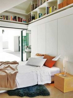 Use the height space for small rooms
