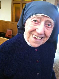 Sr. Mary Augusta is the oldest sister in our province. She may also be the healthiest! www.daughtersofstpaul.com