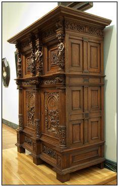 Beeldenkast, Niederländisch, um 1610-20 Museum of Fine Arts, Boston, Leihgabe: - Materialuntersuchung - Untersuchung der Authentizität - Zustandsuntersuchung - Reinigung - Festigung - Ergänzung von fehlenden Profilstäben