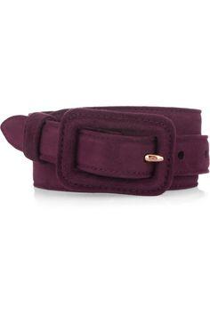 Miu Miu Skinny suede waist belt- Accessories Trends
