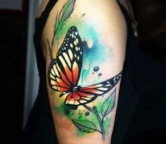 Butterfly tattoo by Pablo Ortiz Tattoo