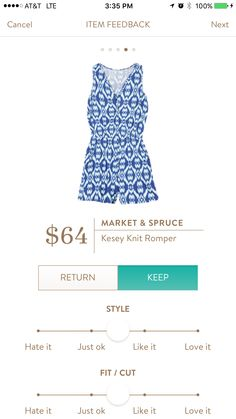 Kesey knit romper, I really like the pattern of this. Am open to trying a romper if you find one you think might work.