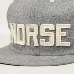 8ab3a8cf629 Norse Projects Vintage Wool Baseball Cap Simple Wardrobe