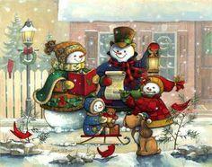 Snowman family...