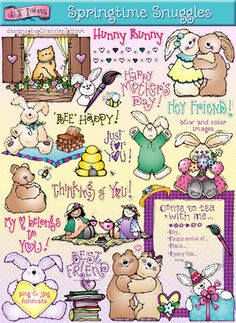 You're sure to find a smile in our 'Springtime Snuggles' clip art collection! Buy yours this week & save 25%!!! Only through 2/25/15....