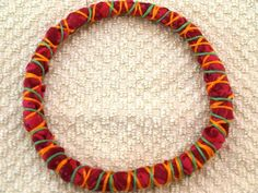 Fabric wrapped jewelry is a great fashion statement.