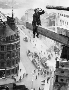 Head for heights?  Old photograph (obviously!).