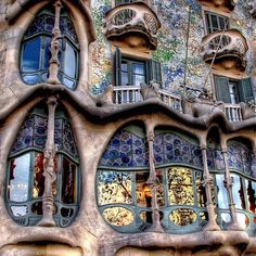 doors and windows-spectacular-Barcelona- Casa Batllo by Gaudi