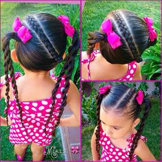 44 Ideas Hairstyles For Girls Mexican For 2020 ! Childrens Hairstyles, Lil Girl Hairstyles, Girls Hairdos, Princess Hairstyles, Girls Braids, Pretty Hairstyles, Braided Hairstyles, Easy Hairstyle, Natural Hair Styles