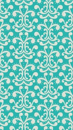 Find images and videos about blue, wallpaper and background on We Heart It - the app to get lost in what you love. Teal Wallpaper Iphone, Damask Wallpaper, Wallpaper For Your Phone, Cool Wallpaper, Mobile Wallpaper, Pattern Wallpaper, Golden Wallpaper, Skull Wallpaper, Wallpaper Ideas