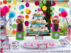 Gumball themed birthday Party