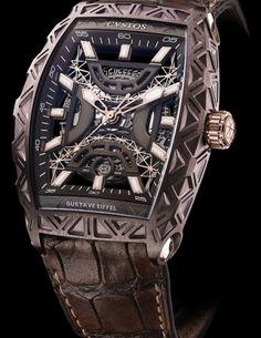 Gustave Eiffel Steel Bronze with Red Gold components Limited Edition Modern Watches, Elegant Watches, Luxury Watches For Men, Vintage Watches, Amazing Watches, Cool Watches, Rolex Watches, Gentleman Watch, Gustave Eiffel