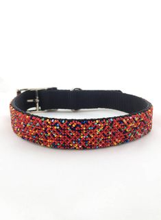 Beaded Dog Collar Chiapas, huichol mexico