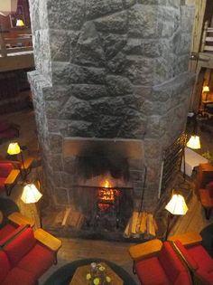 Fireplace Timberline Lodge Mt Hood Oregon