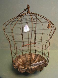 Birdcage - wire sculpture