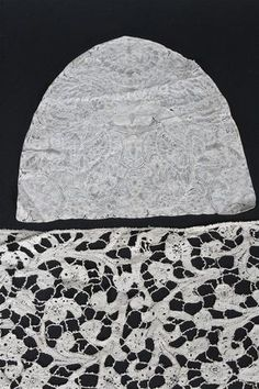 An early 18th century Brussels bobbin lace cap back