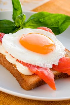 Smoke salmon and egg...