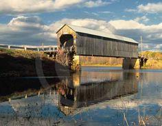 Starkey Covered Bridge, near Codys, New Brunswick - October 2014 Scenes of Canada Promotional Calendars