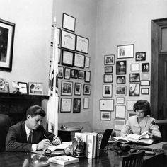14 Photos Of President John F Kennedy In His Senate Office