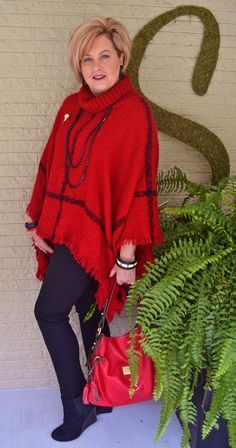 Fashion over 40 Poncho series, 3 of 5. @50isnotold.com