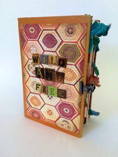 Boho Chic Journal Gypsy Junk Book Free Spirit by MoonsideParlour