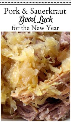 Learn about the tradition of why people eat pork and sauerkraut on New Years Day for good luck and an easy and tasty recipe for making your own dish. Crockpot Pork And Sauerkraut, Sauerkraut Recipes, Cabbage Recipes, Pork Recipes, Game Recipes, New Years Pork And Sauerkraut, Crock Pot Pork And Sauerkraut Recipe, Cooking Sauerkraut, Meal Recipes