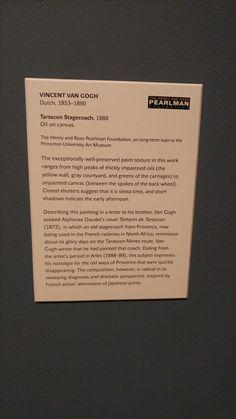 VAN GOGH TARASCON STAGECOACH PRINCETON UNIVERSITY ART MUSEUM NEW JERSEY