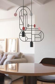 Lampa Lines and Dots projektu Alvaro Goula i Pablo Figuera - PLN Design
