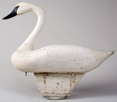 R. Madison Mitchell carved and painted Swan decoy, Havre De Grace, Maryland.