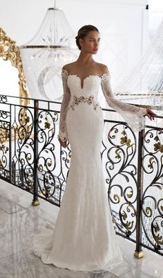 Courtesy of Nurit Hen Wedding Dresses; www.nurit-hen.com; Wedding dress idea. #laceweddingdresses