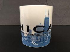 Starbucks Mug 2002 Chicago IL Windy City Skyline Series Barista Coffee Tea Cup  #Starbucks