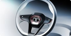 Tata Megapixel Concept - Steering wheel Design Sketch - Car Body Design