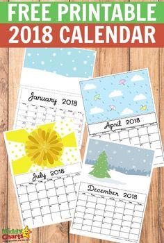 Reciclando con Erika : Calendarios 2,018 Gratis