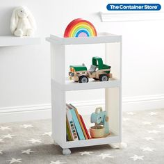 This Like-it Cart gives you stylish storage wherever needed. Its impressive capacity is perfect for a kitchen, playroom, workspace or laundry room. A built-in handle and sturdy, smooth-rolling casters make it easy to move. For the ultimate in organization, Like-it Bricks fit on the top shelf or Like-it Mini Town Baskets and Like-it Modular Organizers (all sold separately) fit on the top and bottom shelves. Rolling Storage, Toy Storage Boxes, Storage Cart, Extra Storage, Small Space Organization, Toy Organization, Homer Decor, Storage Center, Drawer Dividers