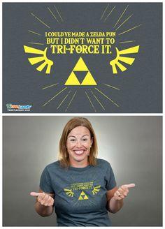 Zelda Triforce tee  #Zelda #LegendOfZelda #BreathOfTheWild #LegendOfZeldaBOTW #BOTW #gamers #videogames #gamer #videogame #nintendo #link #zelda #princesszelda #tshirt #tshirts #shirt #shirts #tee #tees #musthave #silly #lolz #lol #funny #puns #punny #geek #geeks #geeky #geekhumor #nerd #nerds #nerdy #nerdhumor