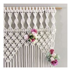 A romantic wedding arch for a delightful client. Wishing you a magical day and…: Macrame Projects, Diy Craft Projects, Yarn Crafts, Diy And Crafts, Macrame Curtain, Macrame Knots, Macrame Patterns, Decoration, Weaving